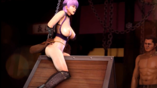 Dead or Alive: Ayane in chained buy some guys