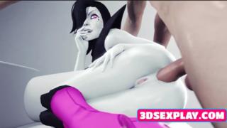 Videogame sluts blow and ride big dicks