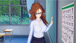 Dragon Ball: Android 21 fuck a guy on the classroom