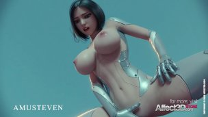 Affect 3D: Alita and the monster by Amusteven