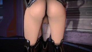 Mass Effect: Miranda Lawson and Commander Shepard by Rikolo