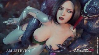 Affect 3D: Venom in love with Alita